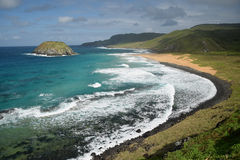 Crystalline sea beach in Fernando de Noronhal Stock Images