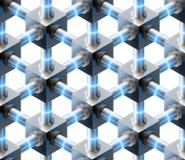 Crystalline seamless pattern. Stock Photos