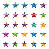 Crystalline star logo set Stock Image