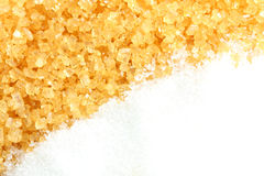 Crystalline sugar and granulated sugar Stock Image