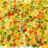Crystallised Fruit on white Royalty Free Stock Photography