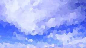 Abstract Background Crystal Sky and Clouds. Crystallized background illustration made of abstract blue sky and some clouds floating Stock Image
