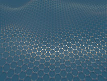 Crystallized Carbon Hexagonal System Stock Image