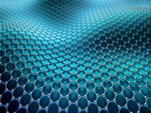 Crystallized Carbon Hexagonal System Stock Images