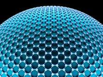 Crystallized Carbon Hexagonal System Royalty Free Stock Photos