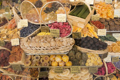Crystallized Fruits stock image