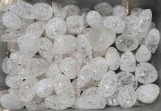 crystallized quartz (rock-crystal) gem stone as mineral rock royalty free stock image