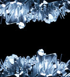 Crystals. Shiny crystals isolated on black Royalty Free Stock Photo