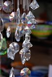 Crystals. Several crystals hanging in front of s shop in Kas, Tutrkey Royalty Free Stock Images