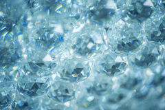 Crystals abstract background Royalty Free Stock Images