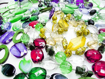 Crystals beads jewellery as fashion background Stock Image