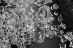 Crystals , black-and-white photo. Extreme closeup. Macro Stock Photography