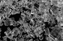 Crystals , black-and-white photo.  Macro. Crystals , black-and-white photo. Extreme closeup. Macro Royalty Free Stock Image