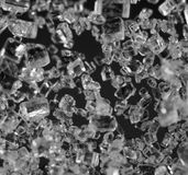 Crystals , black-and-white photo. Macro Royalty Free Stock Image