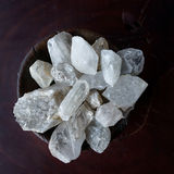 Crystals in a bowl Stock Image