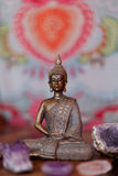Crystals and Buddha Royalty Free Stock Images
