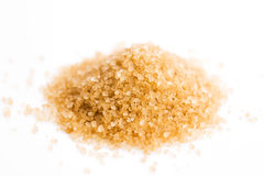 Crystals cane sugar heap Royalty Free Stock Photography