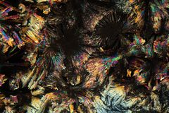 Crystals of Diclofenac under the microscope. Stock Photography
