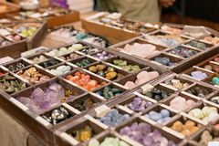 Crystals and gemstones stock photo