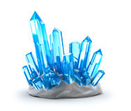 Crystals growing. Isolated on white Royalty Free Stock Photo