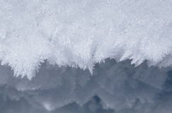 Crystals of hoarfrost. Close up of crystals of hoarfrost Royalty Free Stock Photos