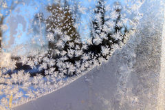Crystals ice on winter window Royalty Free Stock Image