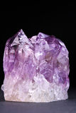 Crystals of magenta amethyst Stock Photos