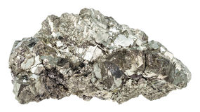 Crystals of marcasite white iron pyrite isolated Royalty Free Stock Photos