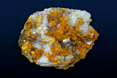 Crystals,orpiment barite Royalty Free Stock Photo