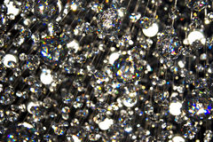 Crystals refracting bright light Royalty Free Stock Images