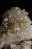 Crystals of rhinestone on black background Stock Image