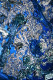 Crystals on Royal Blue royalty free stock images