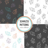 Crystals - seamless hand drawn patterns collection. Crystals - collection of seamless hand drawn modern patterns Stock Image