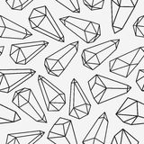 Crystals seamless patterm Royalty Free Stock Photo