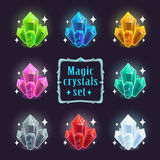 Crystals set Stock Photography
