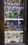 Crystals Shop Window in Prague,Czech Republic Royalty Free Stock Photos