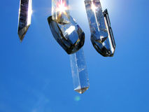 Crystals in the sky. Crystals with the sun in the sky on a beautiful summer day Royalty Free Stock Image