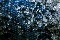 Crystals of sugar. Photo crystal Macro of sugar Stock Image