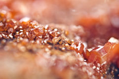 Crystals Vanadinite. Macro. Extreme closeup Royalty Free Stock Photo