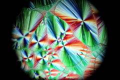 Crystals of Vitamin C. Ascorbic acid.  Microscope image Royalty Free Stock Photography