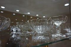 Crystalware a exhibé chez le Hofburg au musée argenté impérial de collection photos libres de droits