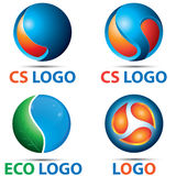 CS 3D Blick Logo Template Stockfotos