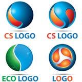 CS 3D spojrzenia loga szablon Zdjęcia Stock