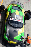 CS de competência cinético de Porsche Cayman GT4 Fotos de Stock