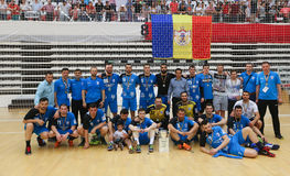 CS DINAMO BOEKAREST WINT NATIONALE HANDBALtitel Stock Foto's