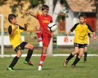 CS XELA Baia Mara - juego de fútbol del graduado de Novi Fotos de archivo