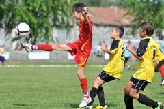 CS XELA Baia Mara - juego de fútbol del graduado de Novi Fotografía de archivo libre de regalías