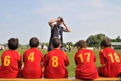 CS XELA Baia Mara - Novi Grad soccer game Royalty Free Stock Photo