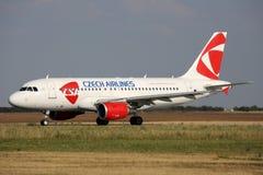CSA - Czech Airlines Royaltyfri Bild