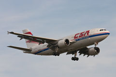 CSA Czech Airlines - Airbus A310 Royalty Free Stock Photo